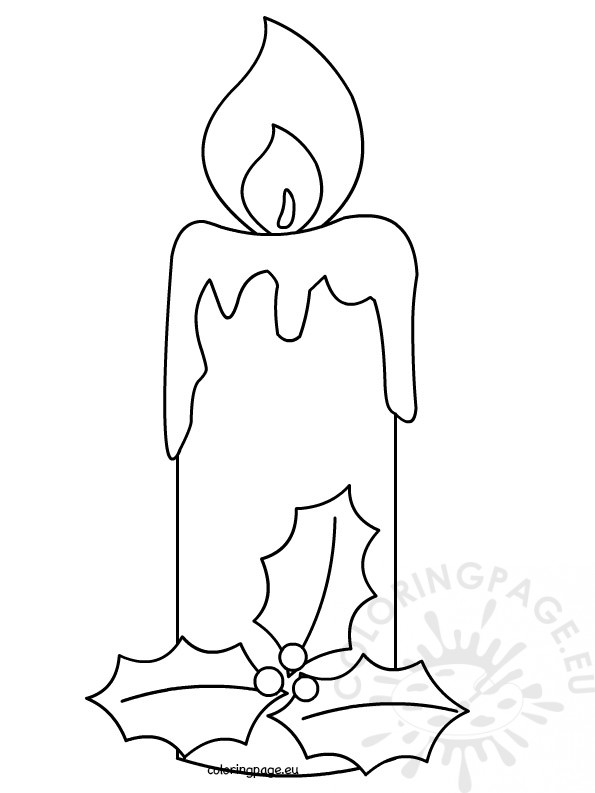 Christmas Candle 2 Coloring Page