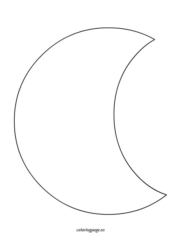 moon template coloring page