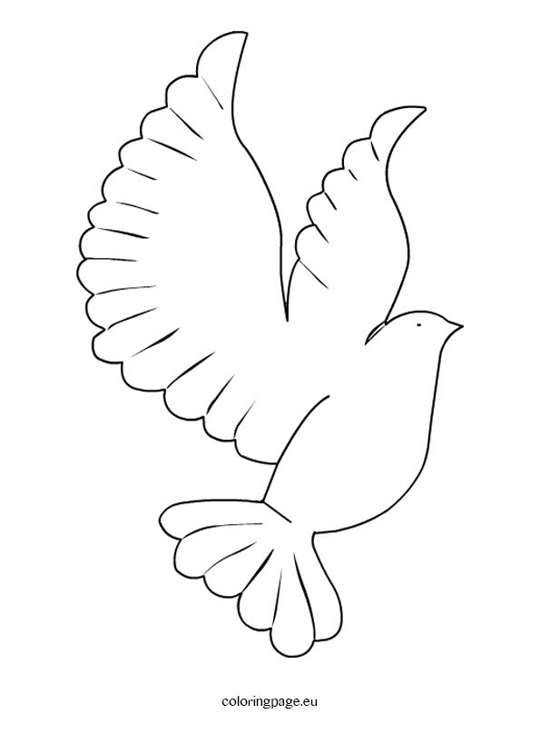 photo regarding Printable Dove Template called Printable Dove Template Coloring Website page