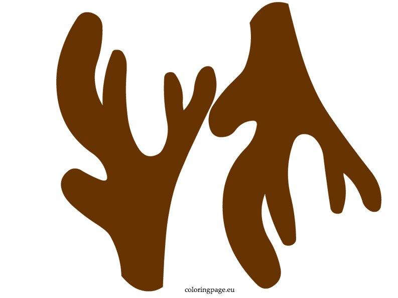 graphic about Printable Antlers named Reindeer Antler Coloring Webpage