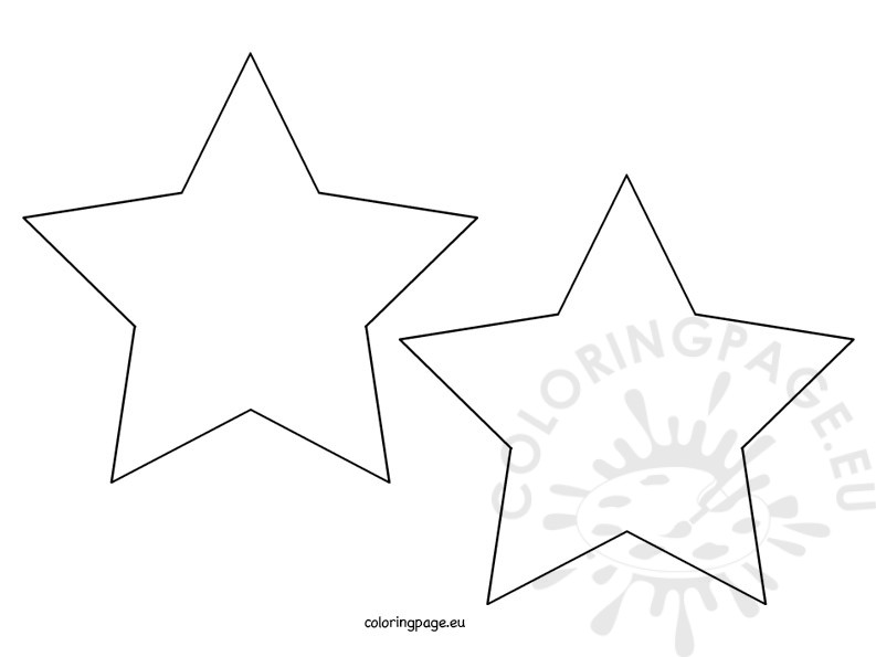 5 pointed star shape coloring page for Star shape coloring page