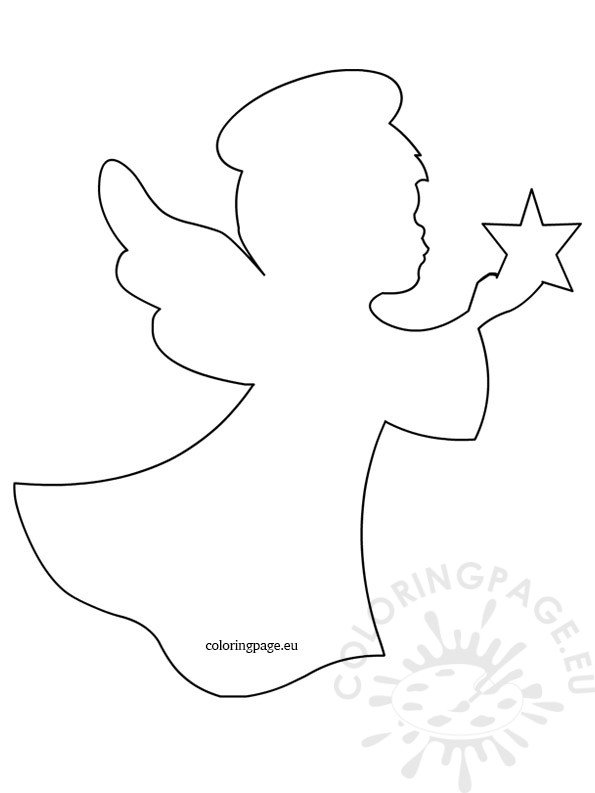 Angel Star Template Coloring Page