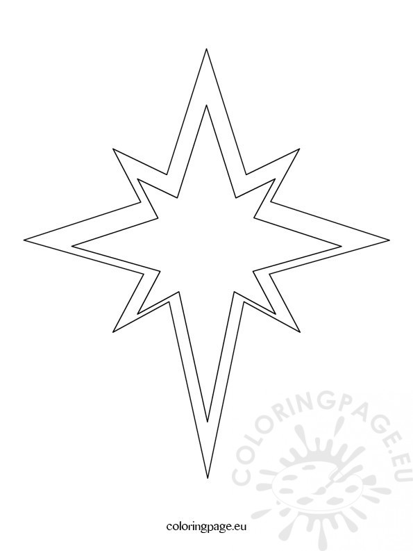 Christmas Star Template  Coloring Page