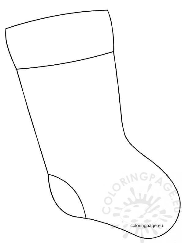 christmas stocking large coloring page