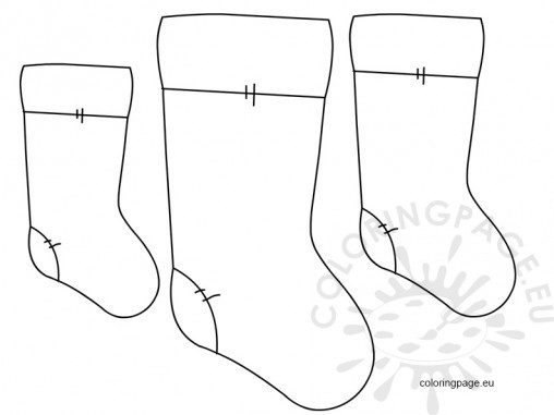 Christmas stocking template for Christmas stocking coloring pages pattern