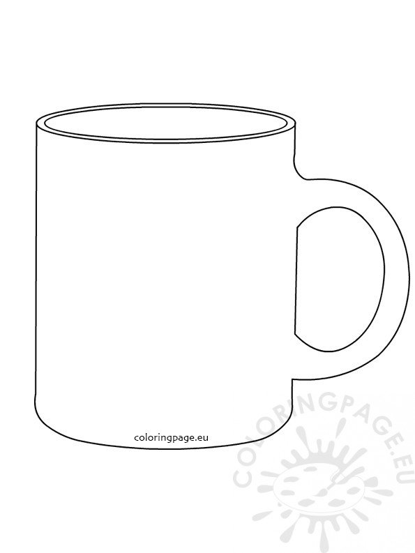 coffee mug template  u2013 coloring page
