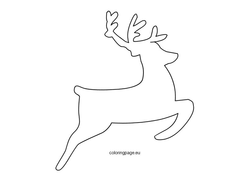 Flying Reindeer Template Coloring Page .