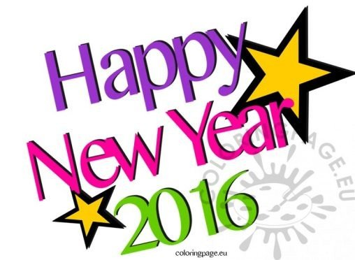 New year coloring page for Happy new year coloring pages 2016