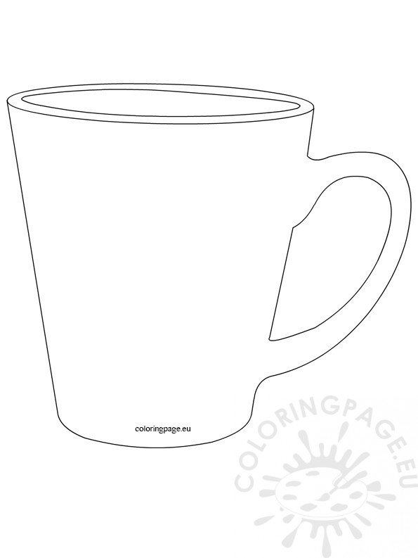 Mug template | Coloring Page