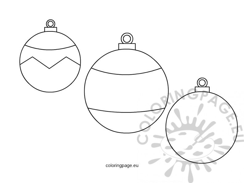 Round baubles template for Christmas baubles templates to colour