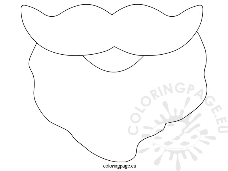 Santa Beard Template Printable Coloring Page