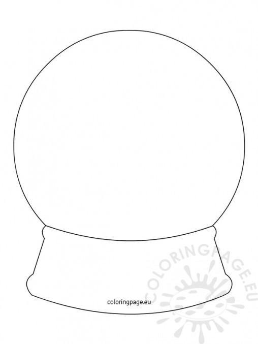 fox snow globe coloring pages - photo#32
