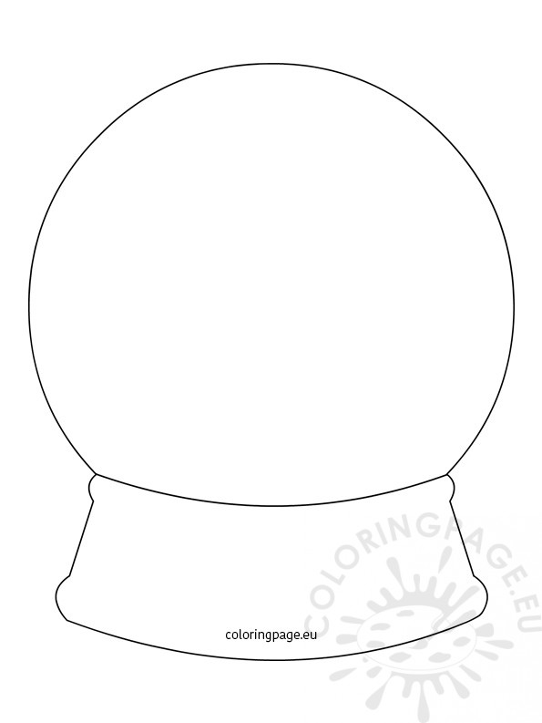 Snow Globe Template Coloring Page