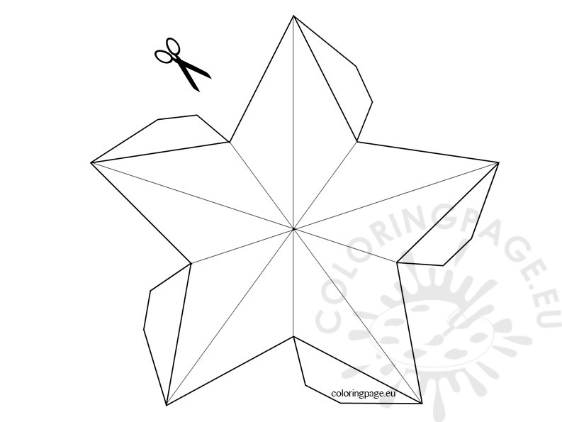 3d Star Template Coloring Page