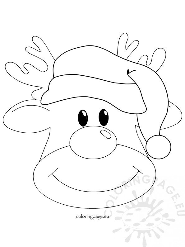 Christmas reindeer rudolph 2 - Coloring Page