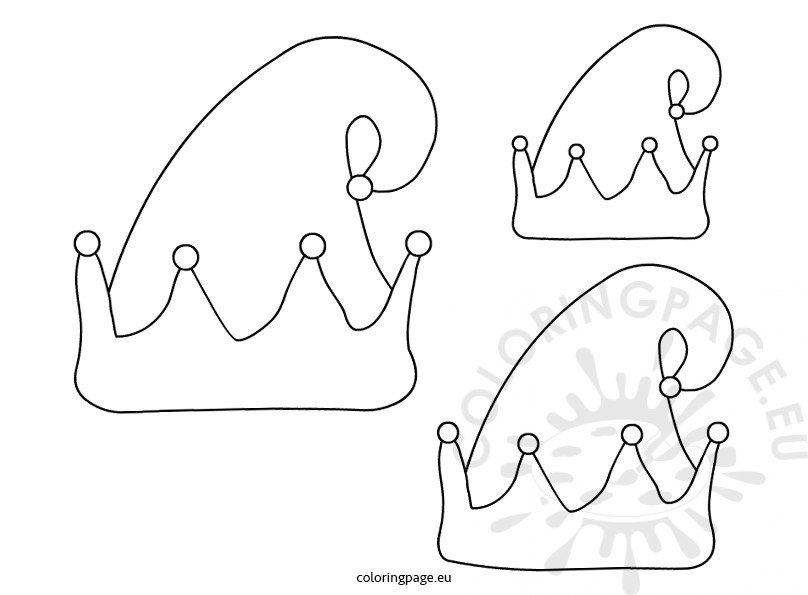 Elf hat template – Coloring Page