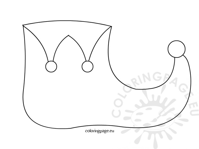 elf hat coloring page - elf hat coloring page coloring pages