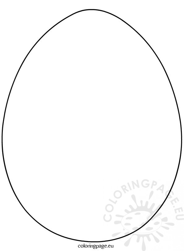 Large Easter Eggs Template Coloring Page