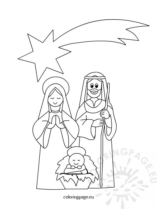 nativity animal coloring pages - photo #31