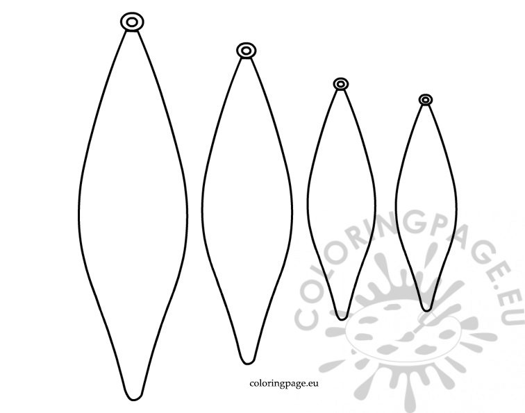 Pointed baubles template coloring page for Christmas baubles templates to colour