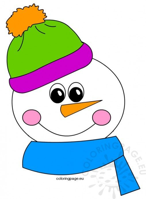winter coloring page