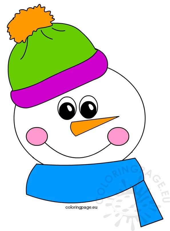 Clipart snowman | Coloring Page