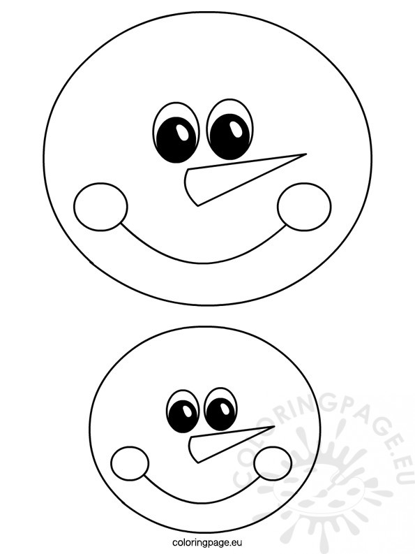Snowman Face Template  Coloring Page
