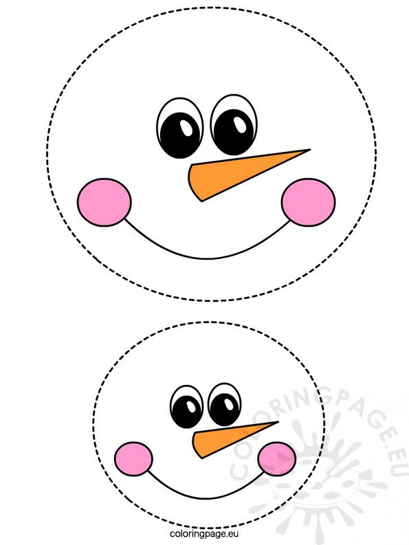 photo relating to Printable Snowman Face Template titled Snowman Confront Coloring Web page