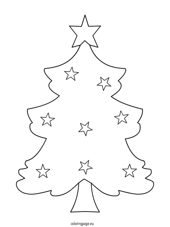 Xmas Tree Template Coloring Page Tree Coloring Page Template