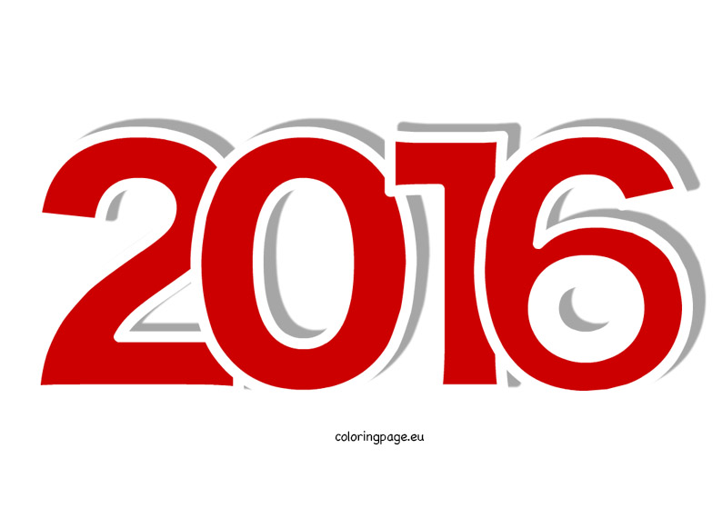 Year 2016 | Coloring Page