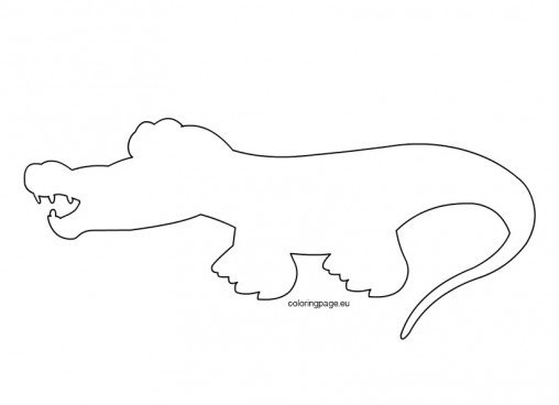 Image Gallery of Printable Alligator Stencil