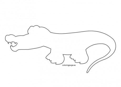 Image Gallery of Printable Alligator Stencil