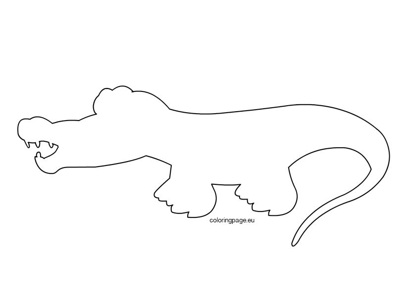Alligator craft template - Coloring Page