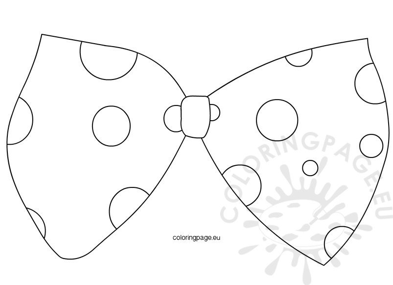 Large Clown Bow Tie Template | Coloring Page
