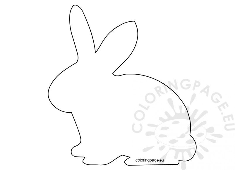 easter template easter bunny shape coloring page