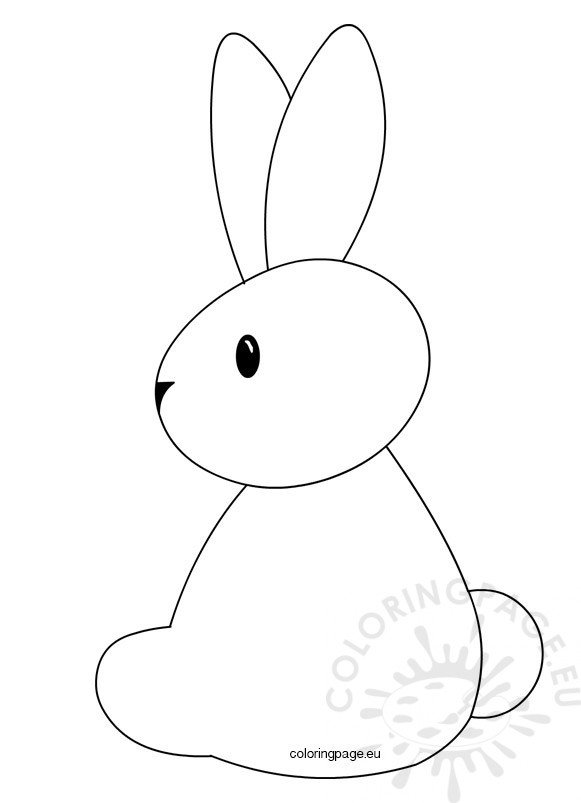 photograph relating to Easter Bunny Printable Template identify Easter Bunny Printable Template Coloring Website page