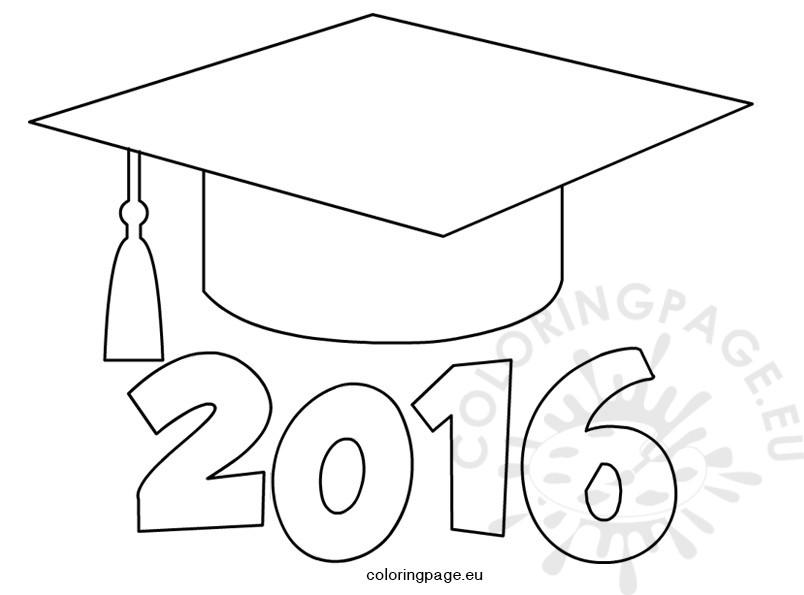 Graduation cap 2016 | Coloring Page