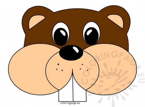groundhog day - coloring page - Groundhog Day Coloring Pages Kids