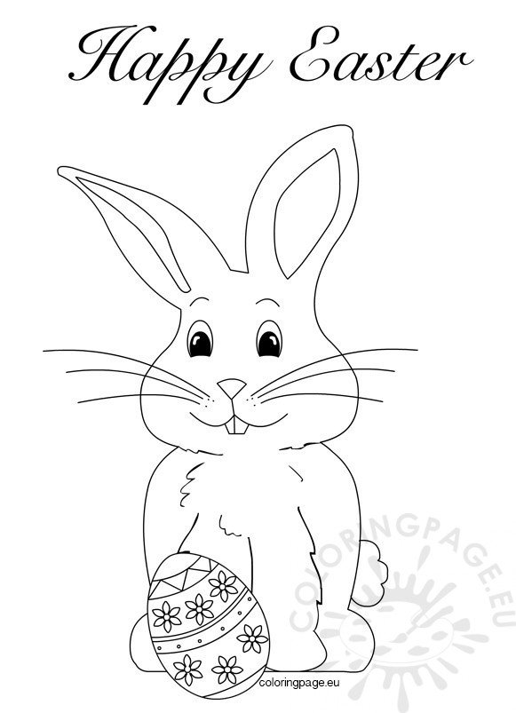 happybunny coloring pages | Easter Bunny Coloring Pages Book – Coloring Page
