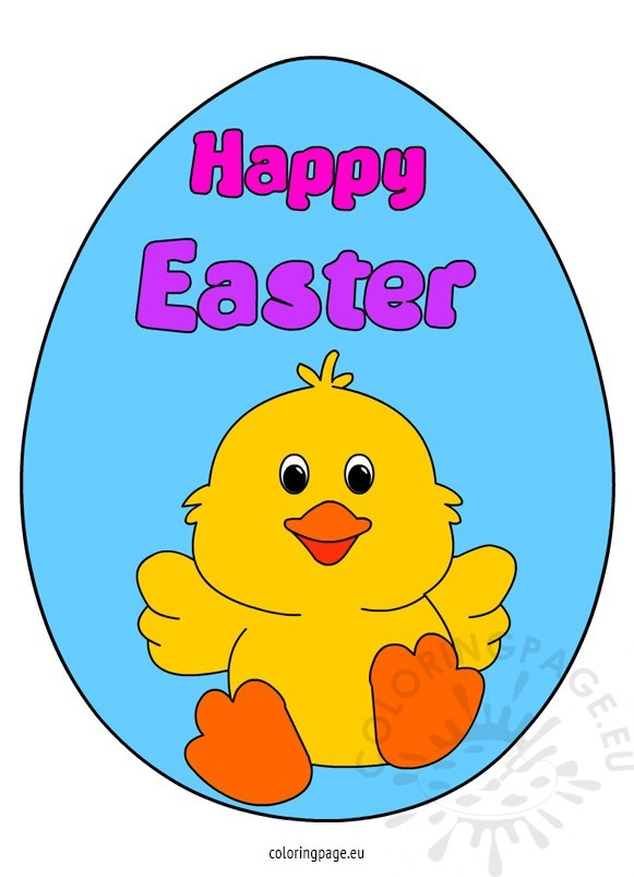 happy easter chick coloring pages - photo#35
