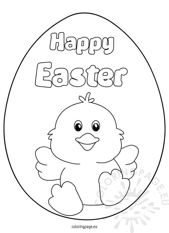 happy easter chick coloring pages - photo#1