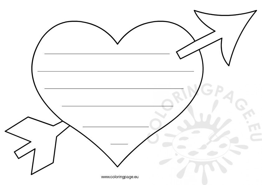 valentine coloring stationary pages - photo#10