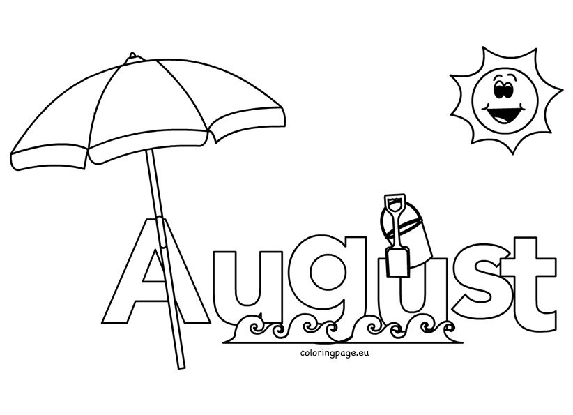 august coloring pages worksheets - photo#9