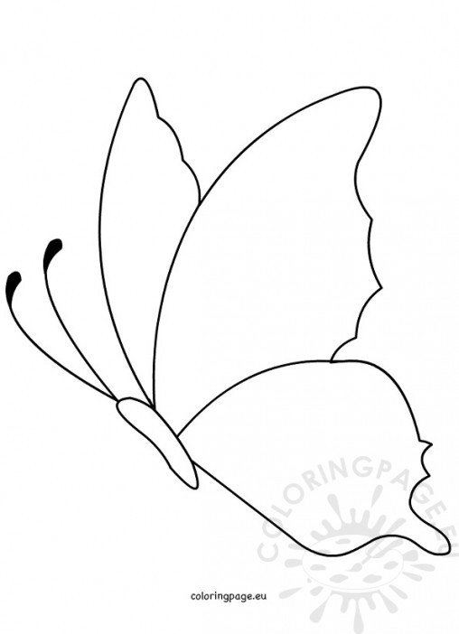 shape butterfly coloring pages - photo#3