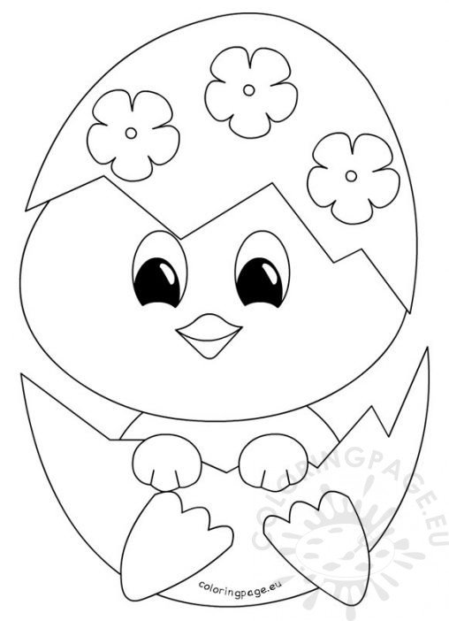happy easter chick coloring pages - photo#17