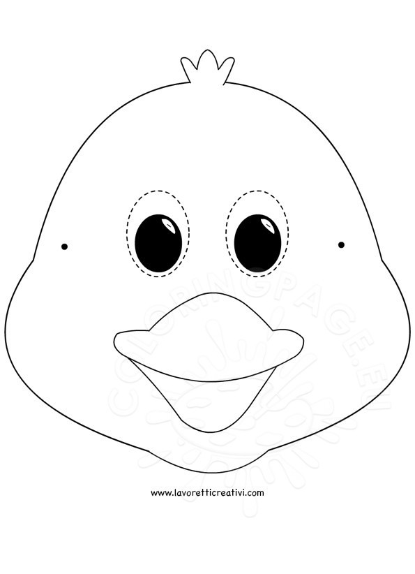 Chick mask coloring page Coloring