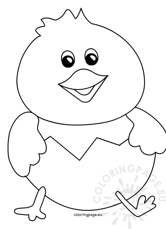 easter chick templates free - cracked eggs coloring pages chick coloring pages