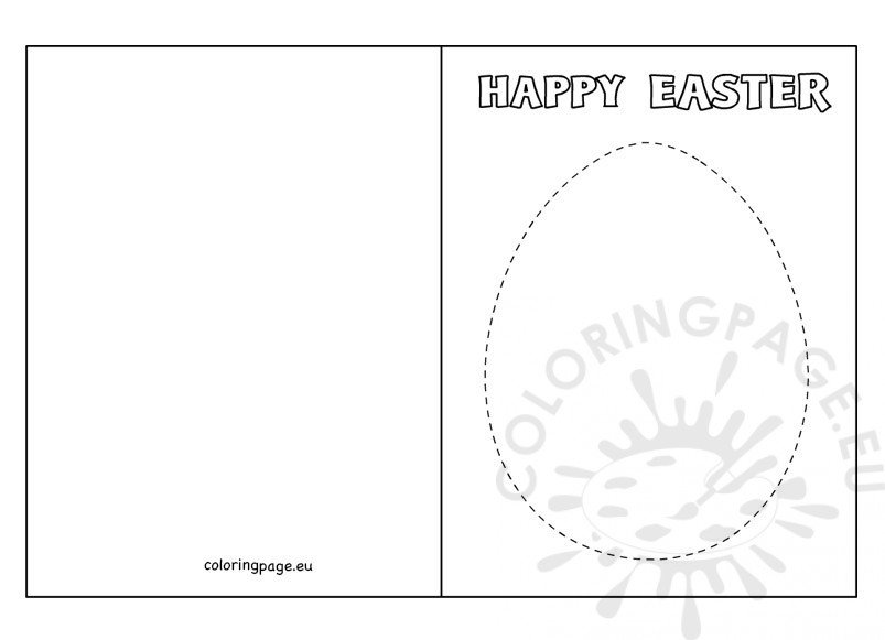DIY Egg Easter Card ideas  Coloring Page