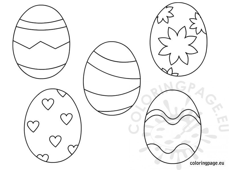 Printable Easter Eggs for kids Coloring Page
