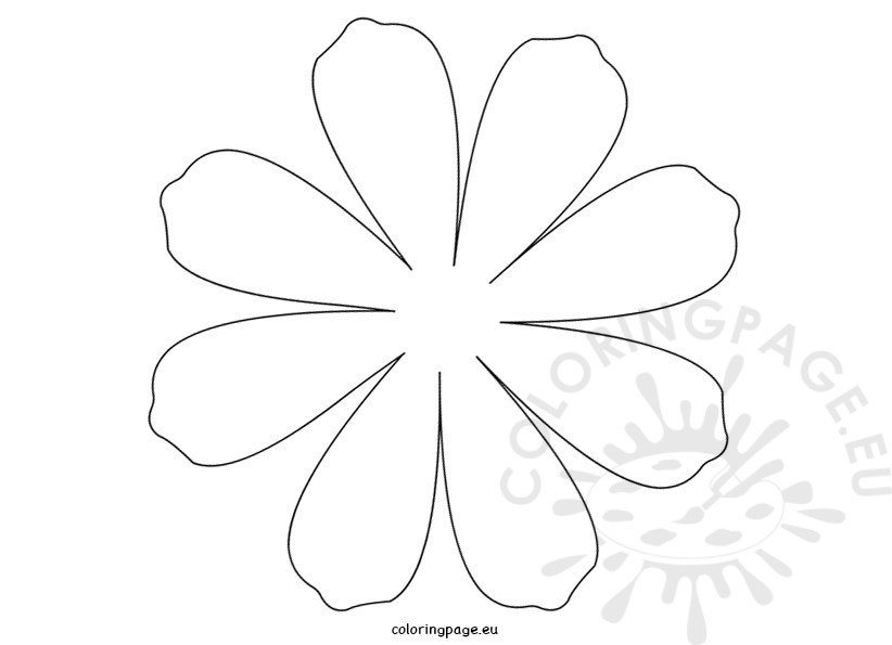 printable flower daisy 8 petal � coloring page